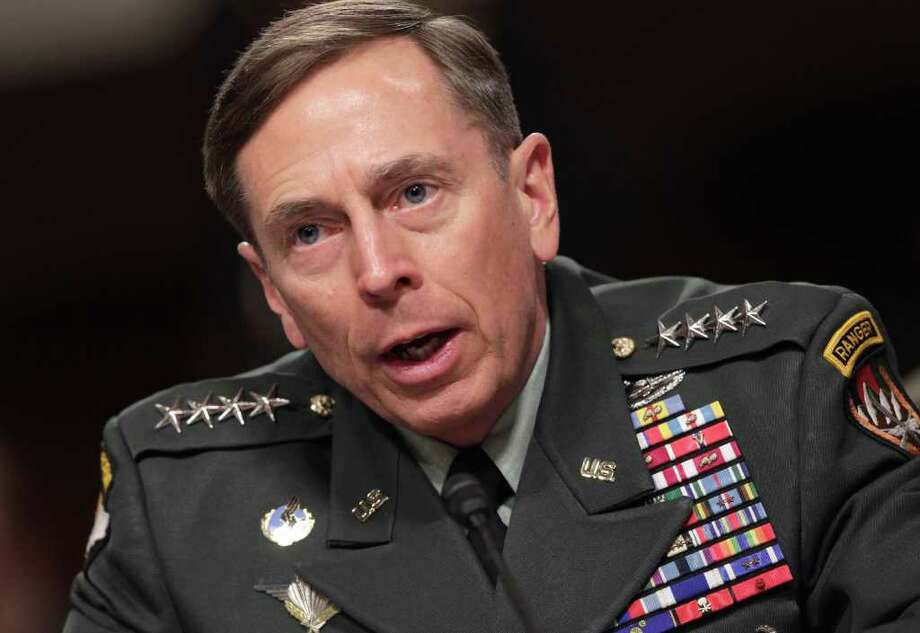 Gen. David Petraeus, commander of U.S. and NATO forces in Afghanistan, testifies on Capitol Hill in Washington, Tuesday, March 15, 2011, before the Senate Armed Services Committee on the situation in Afghanistan.  (AP Photo)