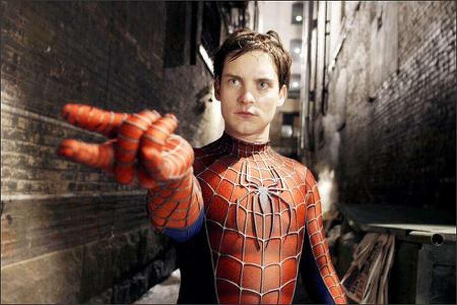 "Peter Parker (Tobey Maguire) struggles with his own inner demons in ""Spider-Man 2."" Photo: SONY PICTURES"