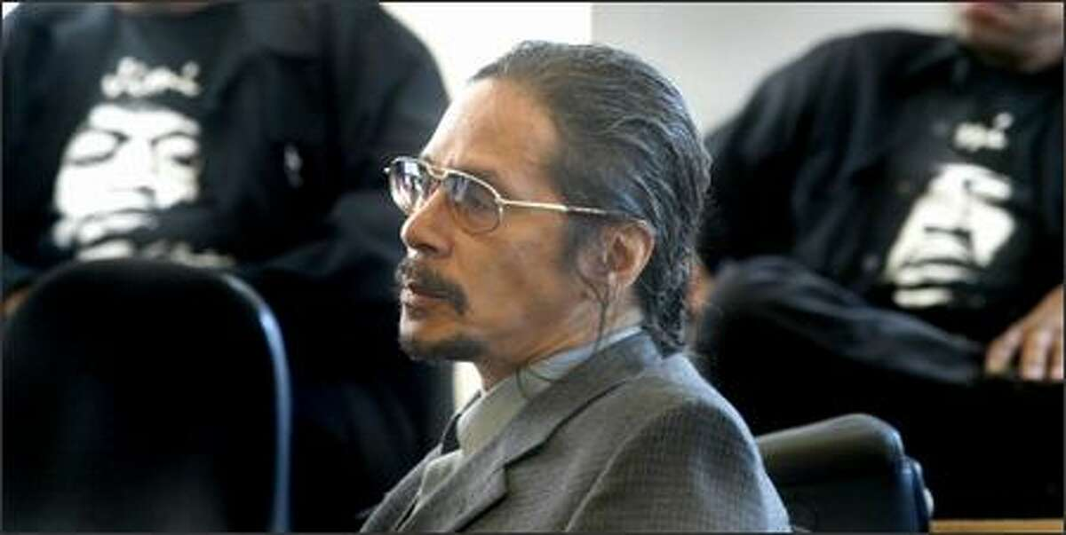 Leon Hendrix, brother of the famous musician, listens to pretrial motions before opening statements begin in his lawsuit challenging his father's will, which cut him out of a share in Jimi Hendrix's estate.