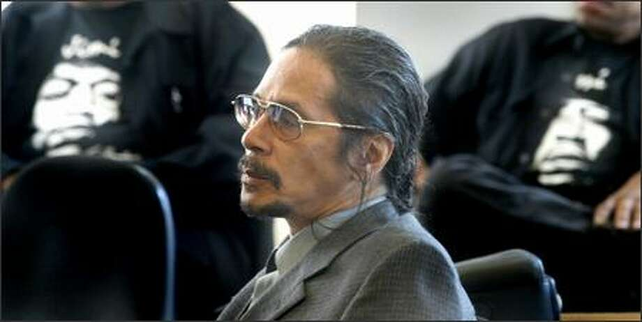 Leon Hendrix, brother of the famous musician, listens to pretrial motions before opening statements begin in his lawsuit challenging his father's will, which cut him out of a share in Jimi Hendrix's estate. Photo: Scott Eklund/Seattle Post-Intelligencer
