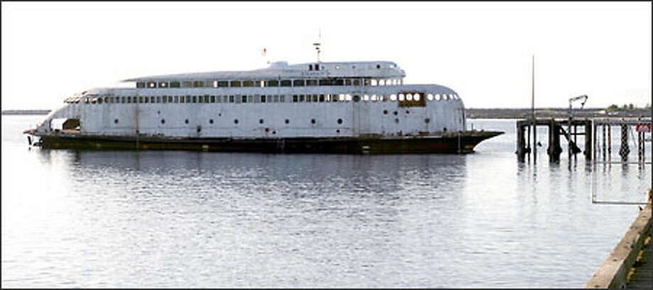 Since being towed to Neah Bay in March, the historic art-deco ferry Kalakala has continued to run into trouble. Photo: / Seattle Post-Intelligencer