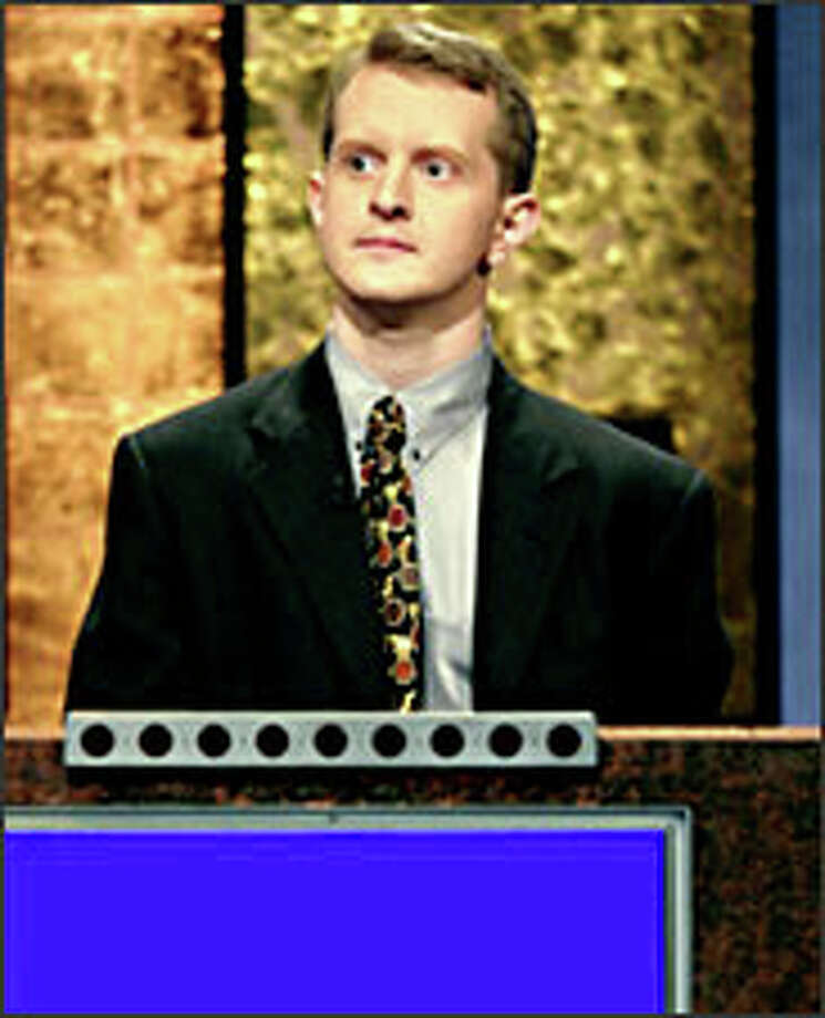 "Ken Jennings of Salt Lake City has won more than $1 million on the popular game show and ""is as weirded out by all of this as anybody else."" Photo: THE ASSOCIATED PRESS"