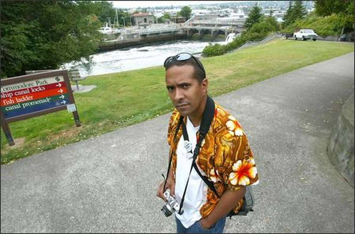 Ian Spiers was taking photographs at the Ballard locks for a class at Shoreline Community College when Seattle police and federal officers detained him.