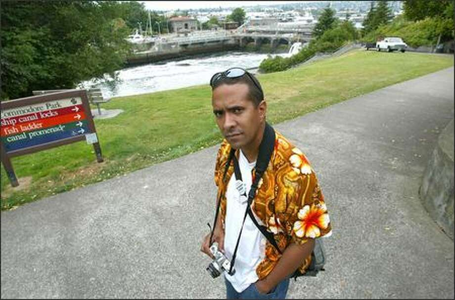 Ian Spiers was taking photographs at the Ballard locks for a class at Shoreline Community College when Seattle police and federal officers detained him. Photo: Paul Joseph Brown/Seattle Post-Intelligencer