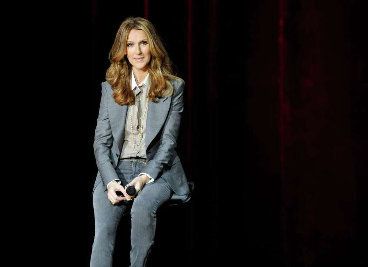 Singer Celine Dion holds a news conference after she performed during the first night of her new show at The Colosseum at Caesars Palace. (Photo by Ethan Miller/Getty Images)