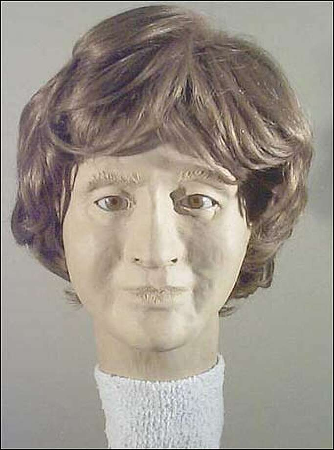 A forensic reconstructionist used a woman's skull and jawbone that were found in 1996 strewn along a trail in rural Polk County, Ore., to create this likeness of an unidentified woman. Photo: / Associated Press
