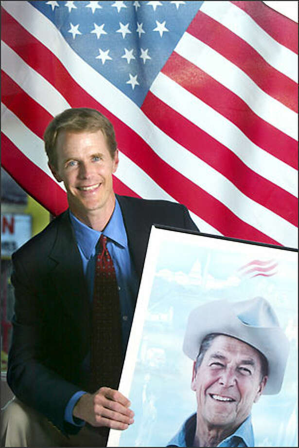 Doug Gardner, 42-year-old son of former Democratic Gov. Booth Gardner, opposes embryonic stem-cell research, and considers Ronald Reagan a personal hero. Photo: Karen Ducey/Seattle Post-Intelligencer