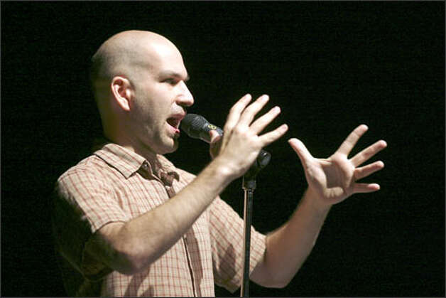Comedian Andy Blitz performs his stand-up routine on the comedy stage with two others during a performance Sunday. This year, Bumbershoot offered five hour-long comedy shows at The Charlotte Martin Theatre. Photo: Kevin P. Casey/Special To The Seattle Post-Intelligencer / Seattle Post-Intelligencer