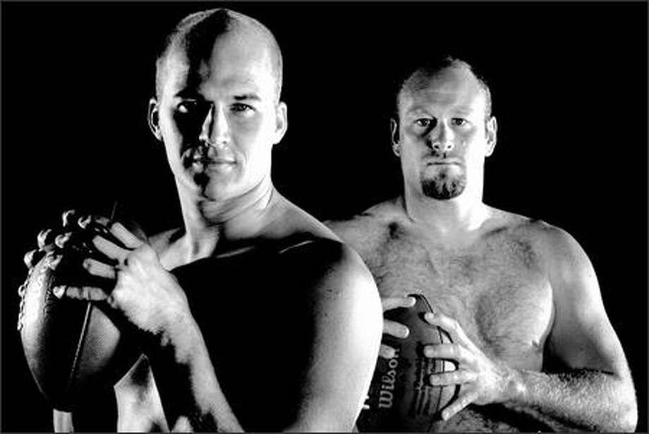 Matt Hasselbeck (left) and Trent Dilfer. Photo: Scott Eklund/Seattle Post-Intelligencer