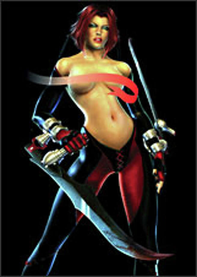 In what was only a logical step, Playboy did a spread on video game characters, including Rayne. Photo: PLAYBOY
