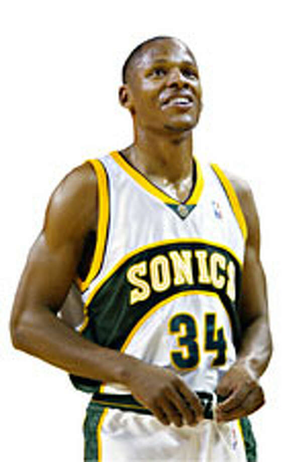 Sonics guard  Ray Allen. Photo: P-I