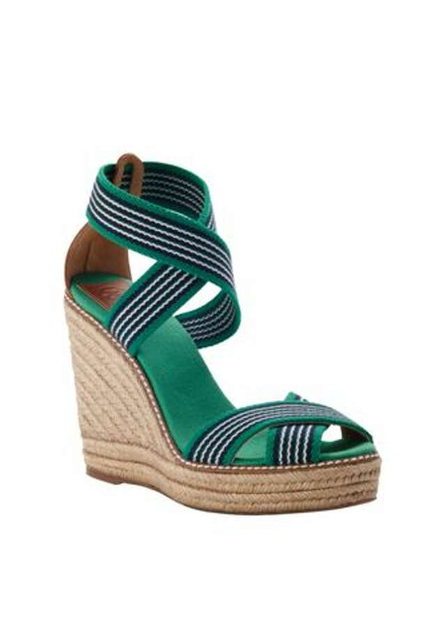 ToryBurch_KellyGreenWedge_0089. Available at Neiman Marcus / DirectToArchive