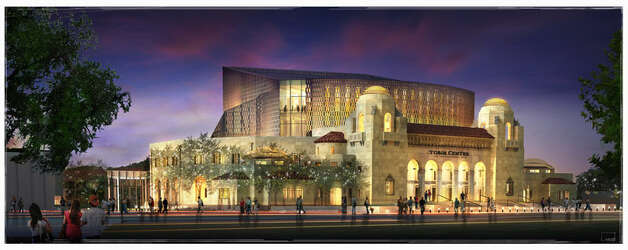 This is how Municipal Auditorium will look when it becomes the Tobin Center for the Performing Arts. Photo: Courtesy Illustration