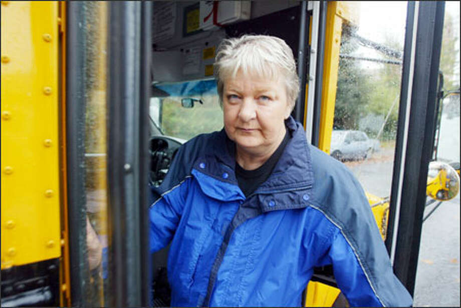 Sheryl Everson was fired from her bus driver job and then rehired after she complained to the School Board. Photo: Karen Ducey/Seattle Post-Intelligencer