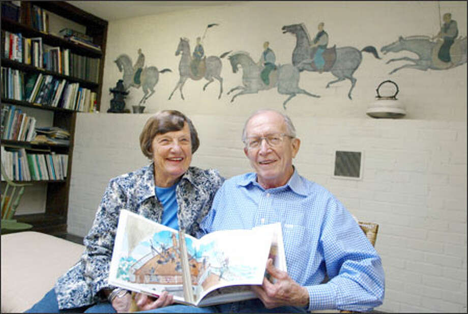 "Together 56 years, Gloria and Ted Rand are Seattle's ""first couple"" of children's books. Photo: Meryl Schenker/Seattle Post-Intelligencer"