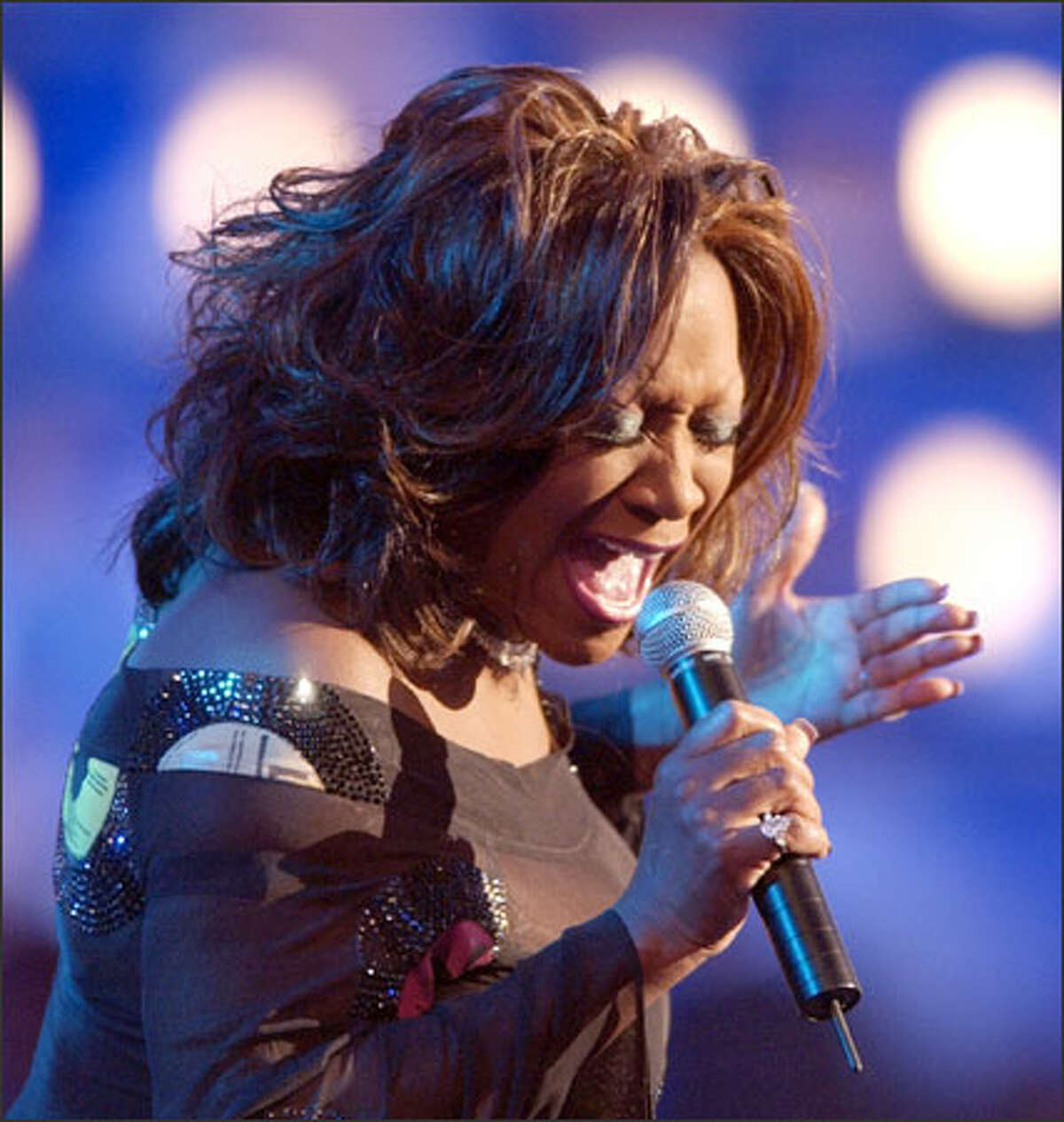 Singer Patti LaBelle says she never lip-synchs at shows.
