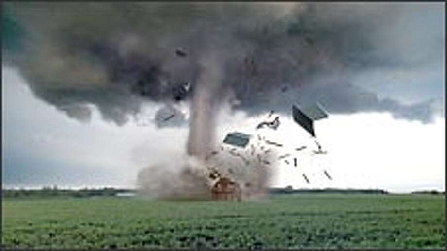 """A cluster of tornadoes devastates the countryside in CBS's """"Category 6."""" / ©2004 CBS Broadcasting Inc. All Rights Reserved"""