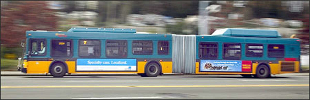 Metro's articulated hybrid buses were getting 3.75 miles a gallon in September.