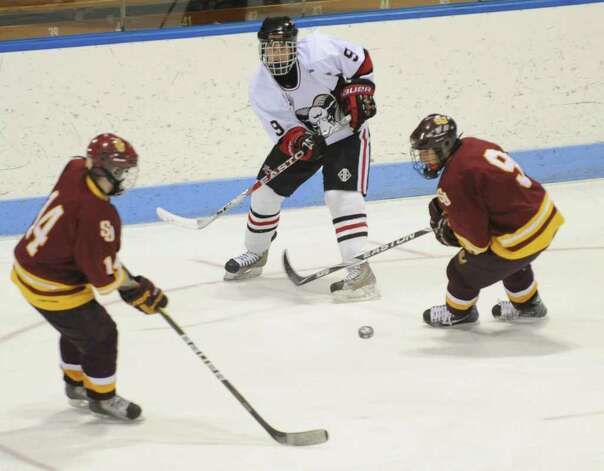Highlights from CIAC Class I semifinal boys hockey action between new Canaan and St. Joseph at Yale's Ingalis Rink in New Haven, Conn. on Wednesday March 16, 2011. Photo: Christian Abraham / Connecticut Post