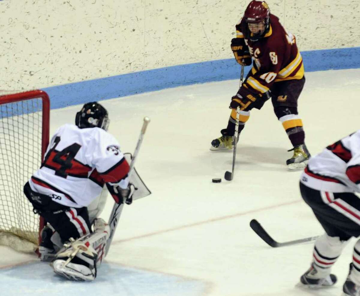 Highlights from CIAC Class I semifinal boys hockey action between new Canaan and St. Joseph at Yale's Ingalis Rink in New Haven, Conn. on Wednesday March 16, 2011.