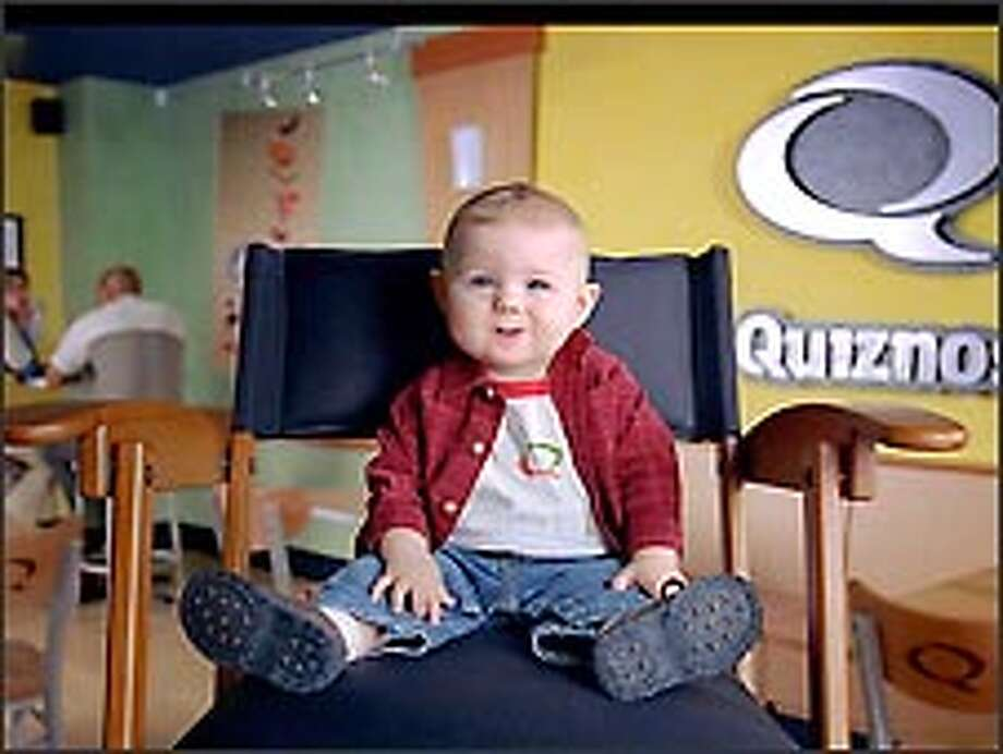 Baby Bob is back in the spotlight plugging Quiznos submarine sandwiches in TV commercials slated to run through 2005. Photo: Quiznos TV Commercial