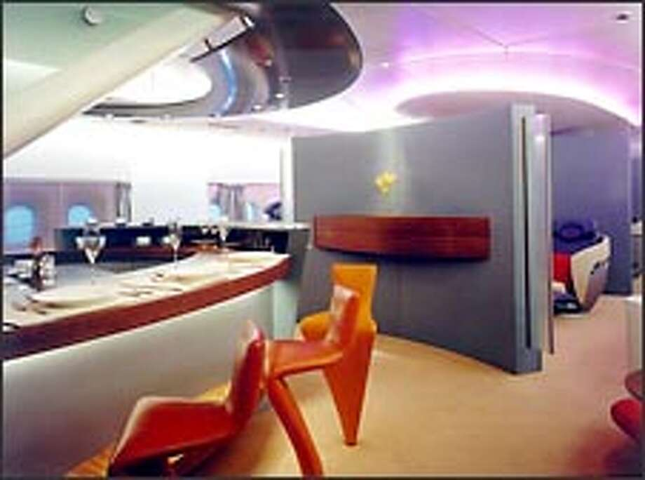 Airbus has billed its A380 as a flying hotel and cruise ship, featuring such items as duty-free shops and in-flight dining areas.