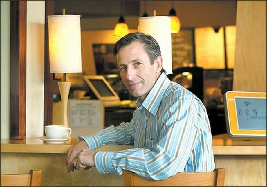 "Jim Donald takes over from Orin Smith, who is retiring, tomorrow as chief executive of Starbucks as the first non-home-grown executive to run the company. Chairman Howard Schultz hopes Donald's ""limitless energy"" will take the company from 9,100 stores globally to 30,000. Photo: DAN DELONG/P-I"