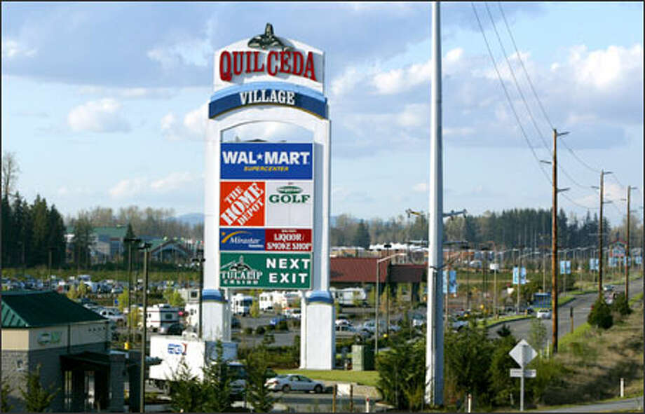 The Tulalip Tribes want to collect a portion of the sales taxes generated at Quil Ceda Village north of Marysville to pay for maintenance and services. Photo: Karen Ducey/Seattle Post-Intelligencer