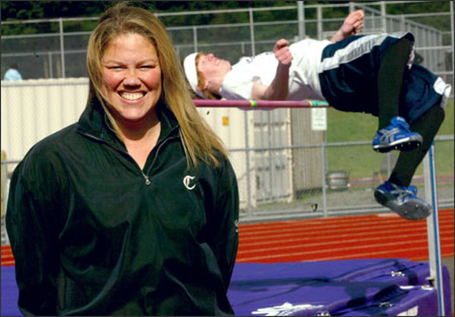 Mary Moore set several high jump records at Issaquah High School and Washington State University. She returned to Issaquah in 1996 as a coach. Photo: Grant M. Haller/Seattle Post-Intelligencer / Grant M. Haller