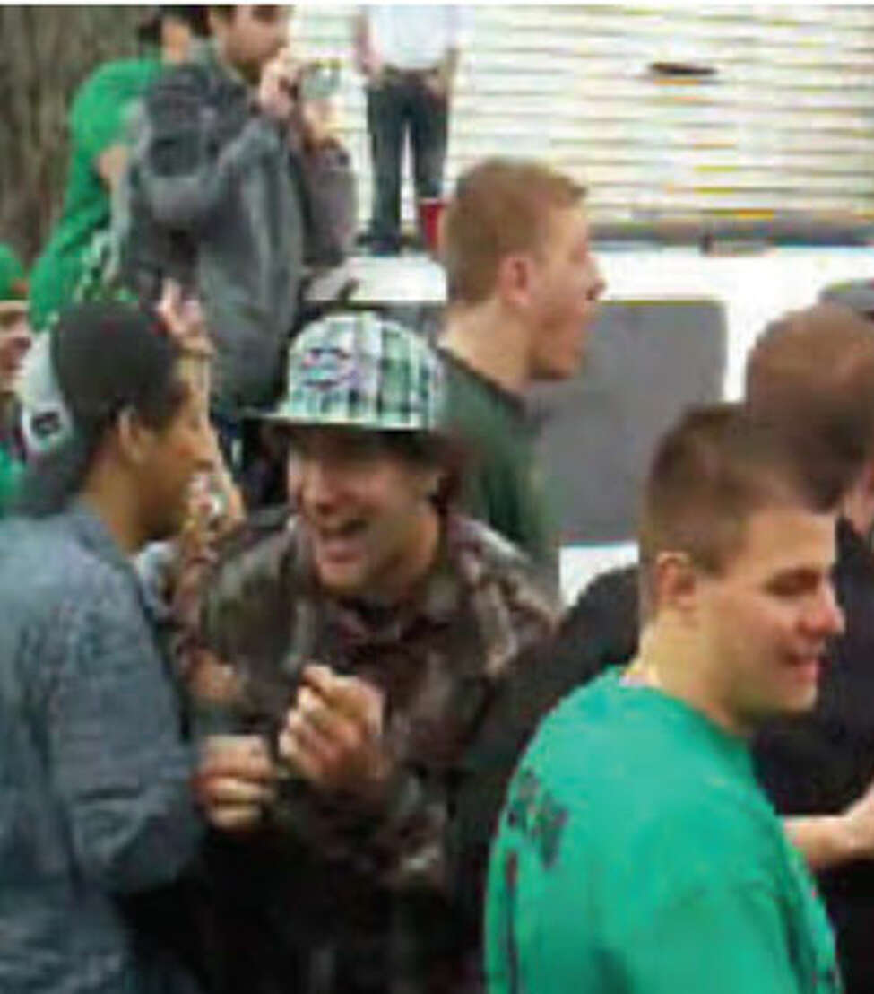 Video still from March 12, 2011 kegs and eggs riot.