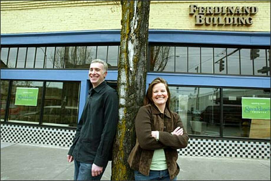 Partners Gary Snyder and Stacey Hettinger's new restaurant, Geraldine's, will have a retro-diner feel with house-made dishes. It's opening, in mid-May, gives another boost to Columbia City's rebirth. Photo: Paul Joseph Brown/Seattle Post-Intelligencer