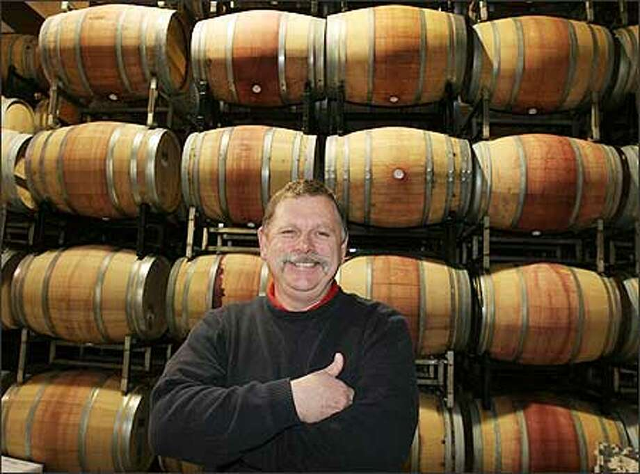 Mike Januik, winemaker and owner of Woodinville's Januik Winery, which produces about 3,500 cases a year, says small wineries like his should benefit from yesterday's Supreme Court decision. Photo: Meryl Schenker/Seattle Post-Intelligencer