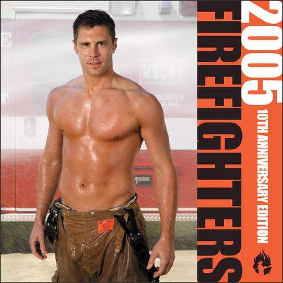 Andy Finseth was picked for the Firefighter calendar cover twice -- in 2005 and 2004. Photo: /Seattle Post-Intelligencer