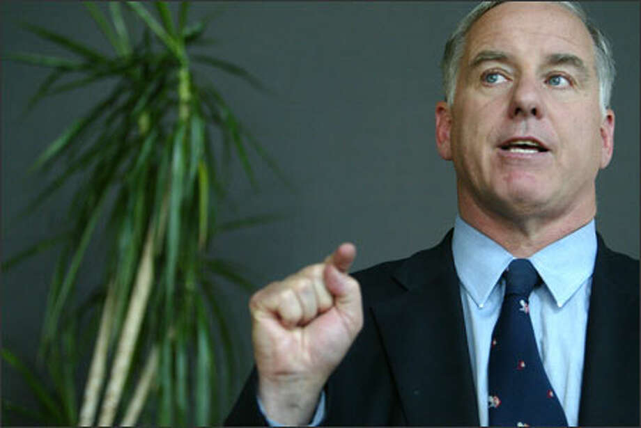 "At a fund-raiser in Seattle yesterday, Democratic Party chief Howard Dean said, ""I'm tired of being lectured on moral values by the likes of Rush Limbaugh."" Photo: Joshua Trujillo/Seattle Post-Intelligencer / Seattle Post-Intelligencer"