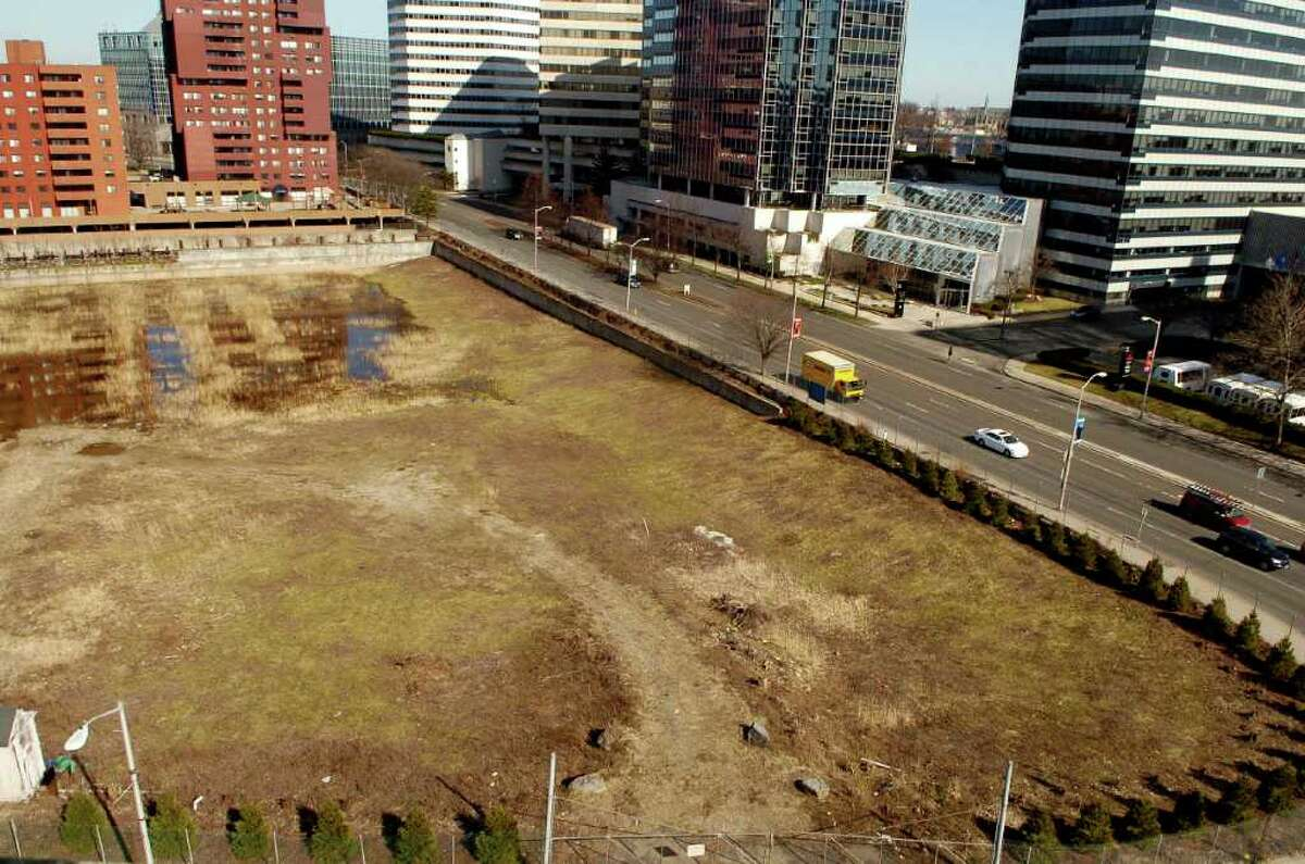 Vacant lot on the corner of Gray Rock Place and Tresser Blvd. in Stamford, Conn on Thursday March 17, 2011.