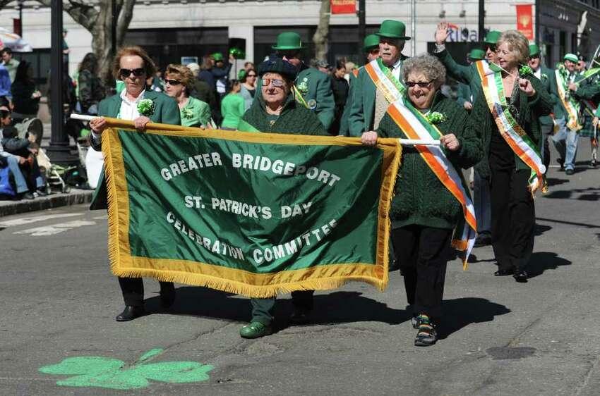 The St. Patrick's Day parade moves through Bridgeport, Conn. Thursday, Mar. 17, 2011.