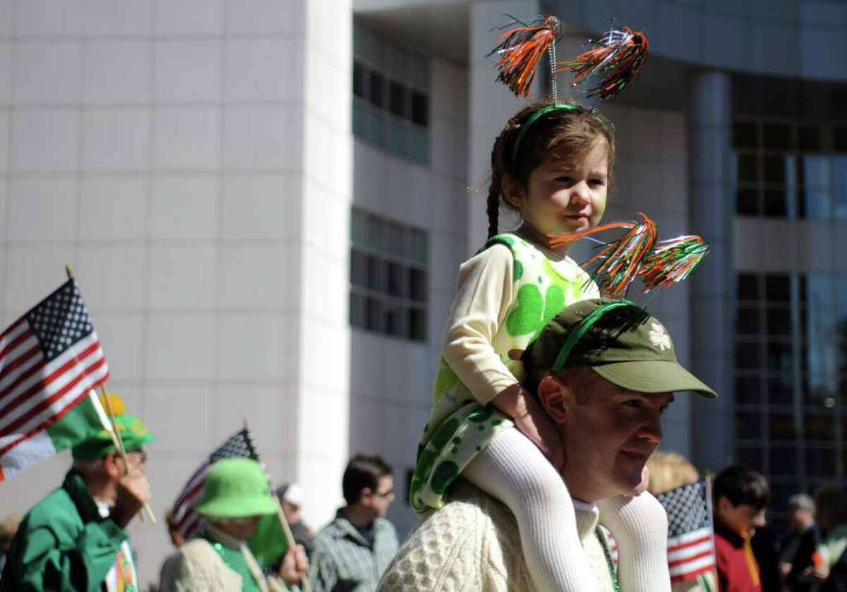 The St. Patrick's Day parade moves through Bridgeport, Conn. Thursday, Mar. 17, 2011.