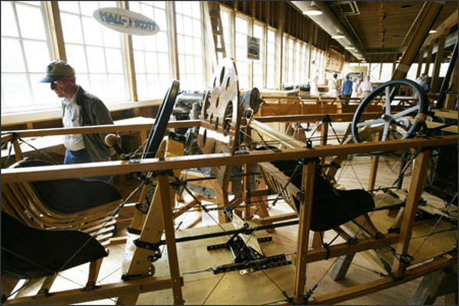 """The Boeing Story: 1916-1934,"" a new permanent exhibit at The Museum of Flight on East Marginal Way South, opens to the public tomorrow. The exhibit, in the Red Barn, the birthplace of The Boeing Co., highlights the company's early years and how it has influenced the Puget Sound region. Photo: Dan DeLong/Seattle Post-Intelligencer"
