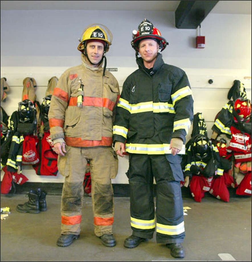 Lt Jon Kimball Right A  Year Veteran With The Seattle Fire