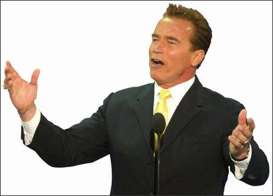 Arnold Schwarzenegger, Governor of California. Photo: Seattle Post-Intelligencer