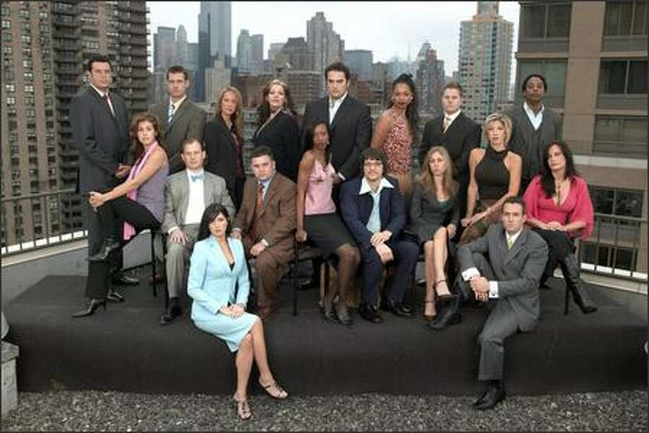 "The third season of ""The Apprentice,"" debuting Thursday, Jan. 20, 2005, features 18 competitors vying for a job with Donald Trump.  This time, they'll be divided into two teams, pitting colleged-educated ""book smarts"" against high-school-diploma ""street smarts."" Photo: NBC"