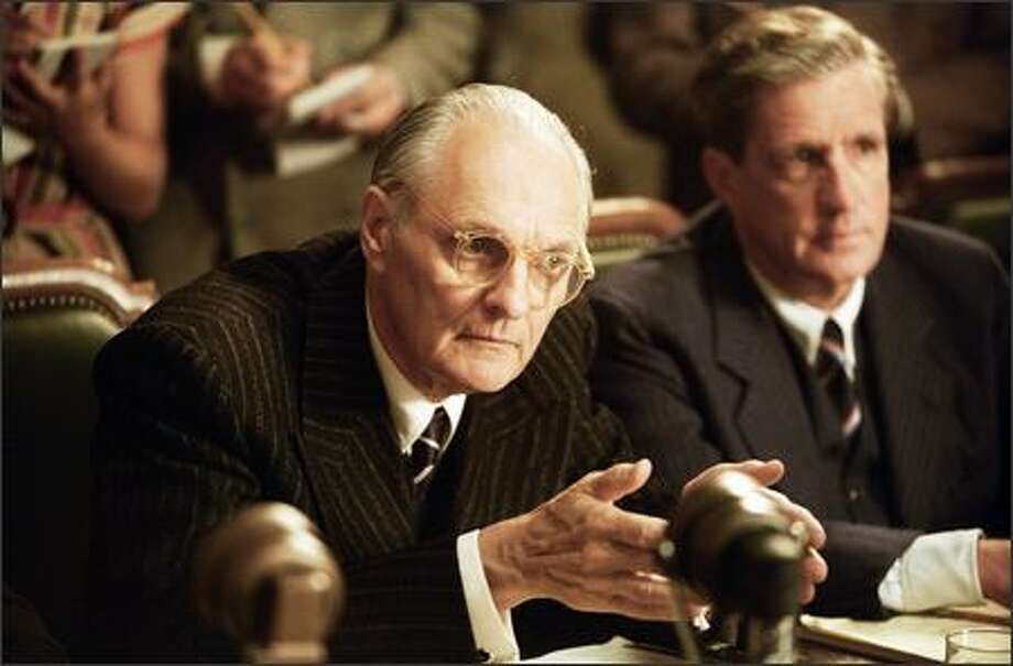 """Alan Alda stars as Senator John Owen Brewster in """"The Aviator."""" Alda, 69, became famous for his role as Hawkeye Pierce in TV's long-running and highly regarded """"M*A*S*H,"""" for which he won four Emmys. This is his first Academy Awards nomination. Photo: Miramax Films"""