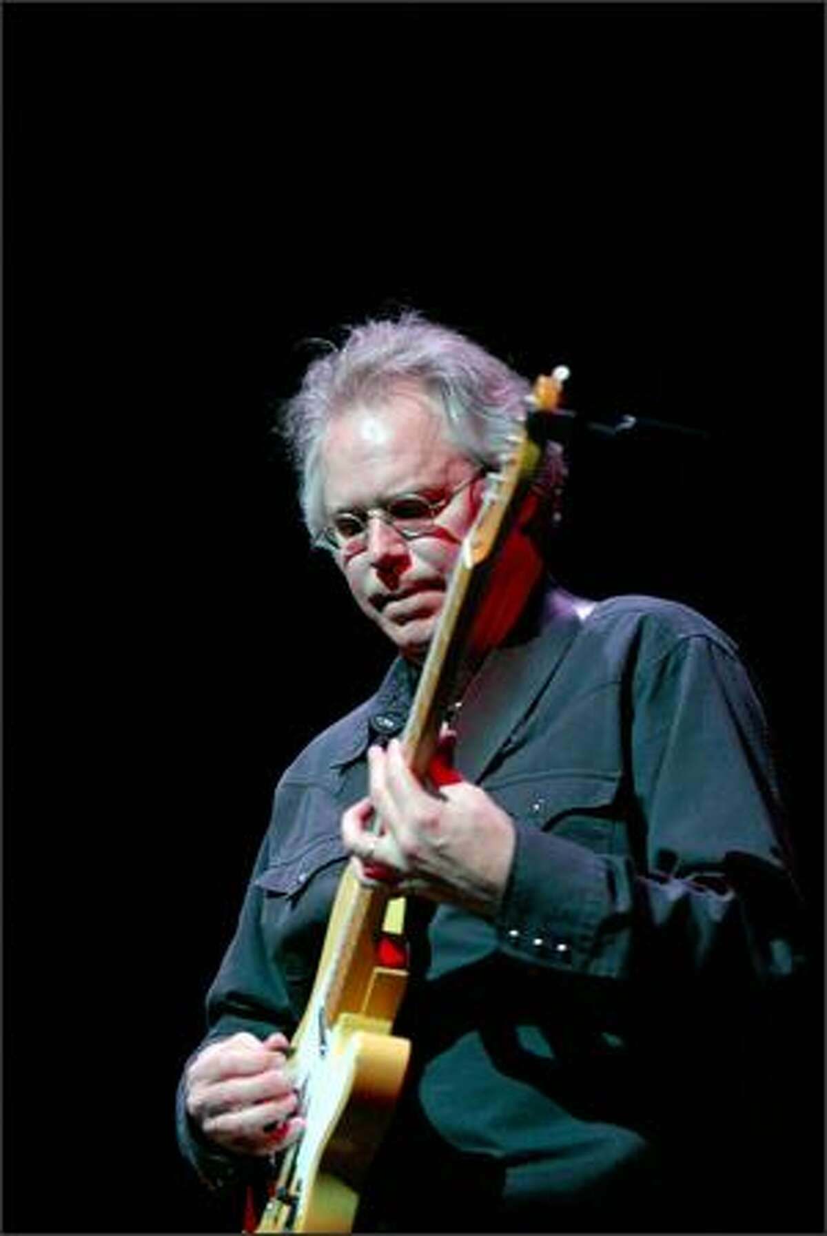 Bill Frisell opened Friday night's show.
