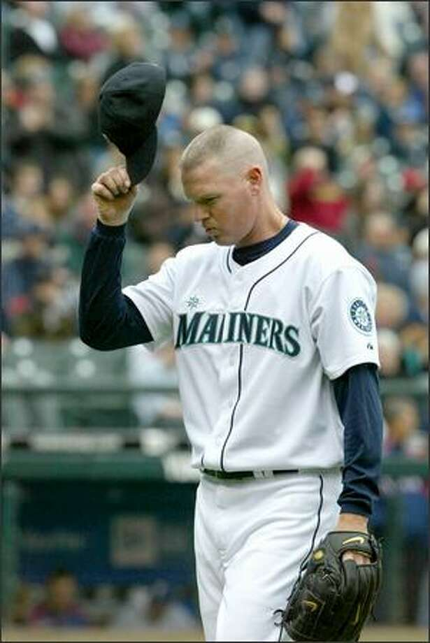 Jeff NelsonThen – Having pitched three seasons as a reliever for Seattle, Nelson, known for his wicked slider, posted career lows in ERA (2.17), WHIP (1.081) and strikeouts per nine innings (11) during the 1995 season. He pitched in 62 games and posted a 7-3 record. Photo: Gilbert W. Arias, Seattle Post-Intelligencer