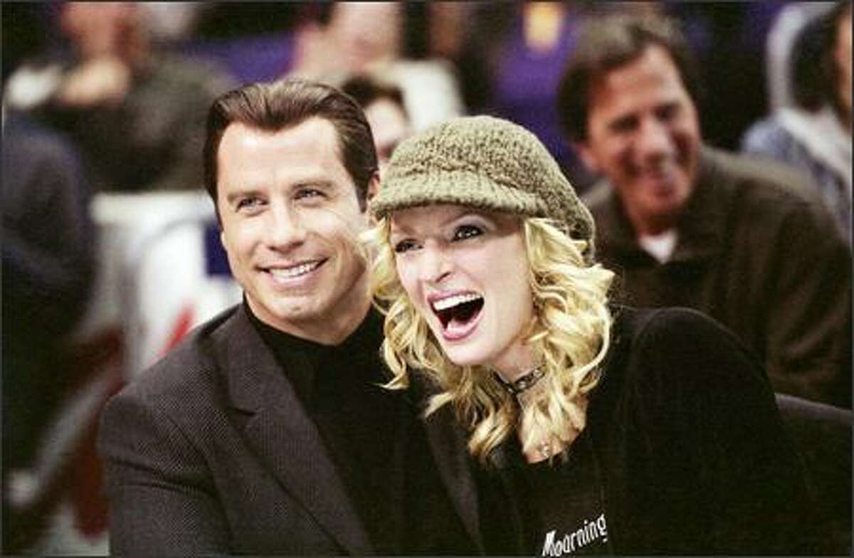 John Travolta and Uma Thurman star as Chili Palmer and Edie Athens in