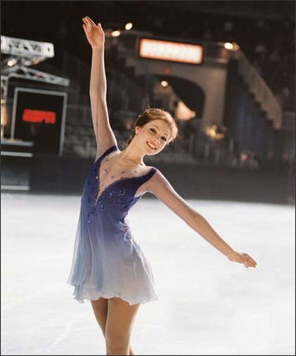 """A teen misfit who never thought she'd fit in discovers her personal edge when she risks it all to pursue her dreams of figure skating in Disney's family comedy """"Ice Princess."""""""