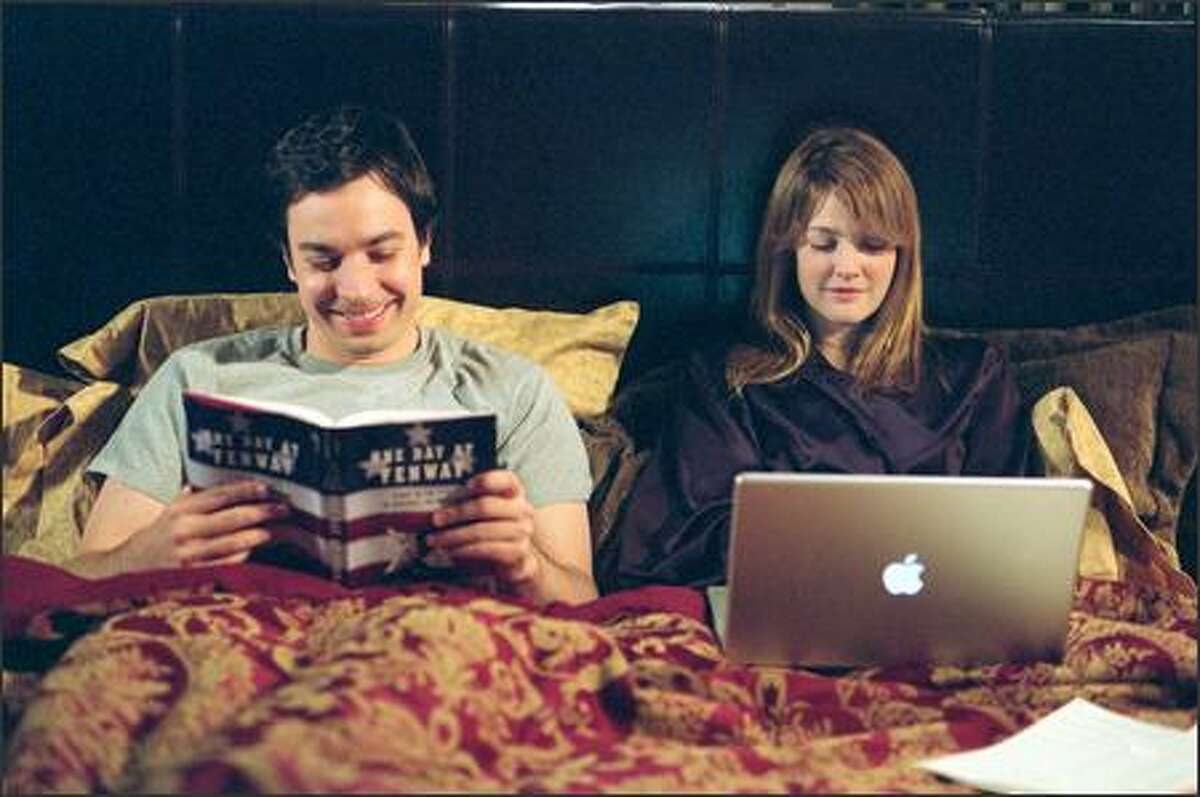 Ben (Jimmy Fallon) explores his favorite pastime while Lindsey (Drew Barrymore) takes care of business.