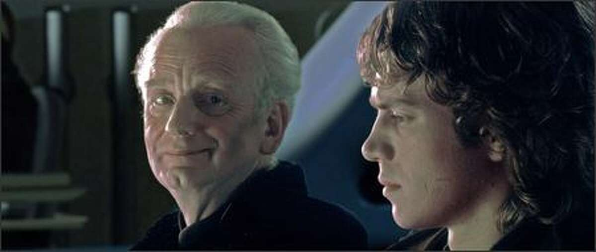 Emperor Palpatine (Ian McDiarmid) fills Anakin Skywalker (actor Hayden Christensen) with stories of power beyond belief ... power that he cannot obtain so longer as he remains within the limits prescribed by the Jedi.