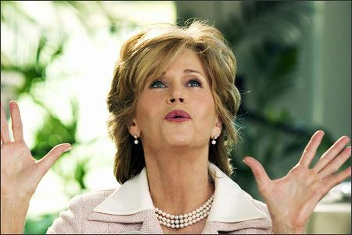 Viola (Jane Fonda) plans big for her son's wedding in New Line Cinema's upcoming comedy Monster-in-Law.