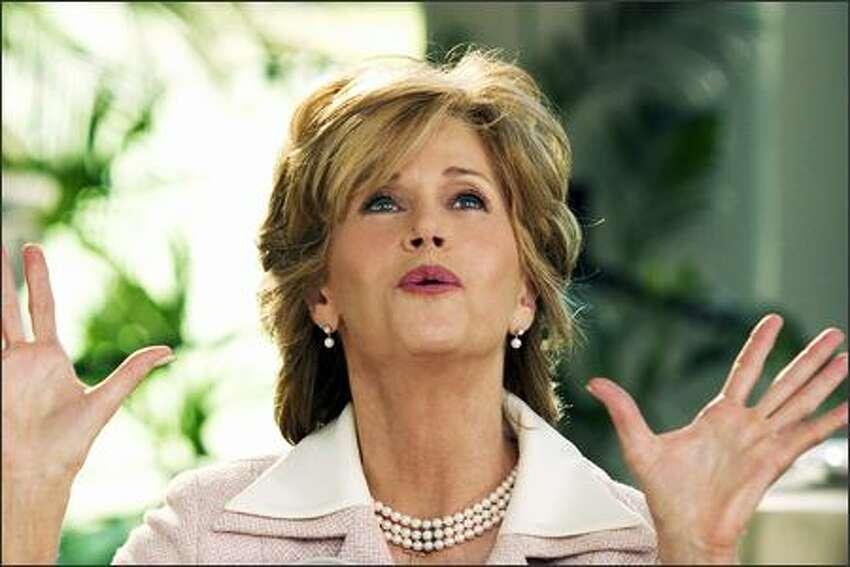 Viola (Jane Fonda) plans big for her son's wedding in New Line Cinema's upcoming comedy Monster-in-Law.
